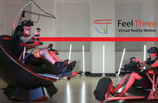 360-Degree VR Motion Seats - The 'Feel Three' Virtual Reality Motion Simulator Immerses Players