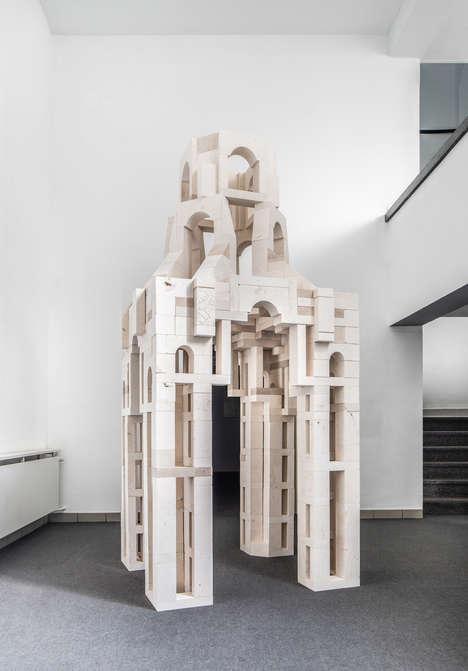 Architectural Toy Block Sculptures