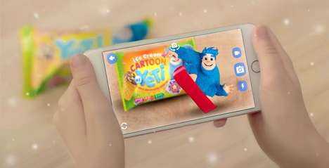 AR Ice Cream Wrappers - My Yeti's Ice Cream Packaging Design Engages Kids with Augmented Reality