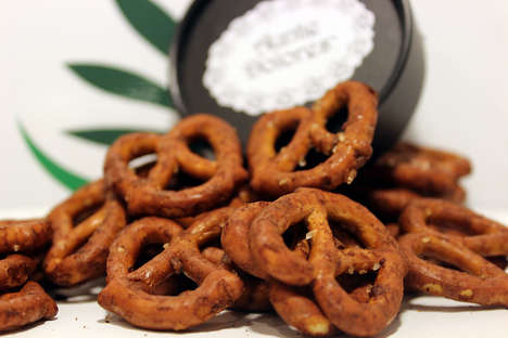 Savory Medical Cannabis Pretzels - Auntie Delores' Savory Pretzels are a Low-Calorie Edible