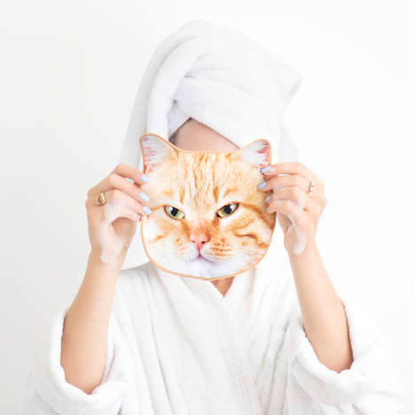 Animal-Printed Face Towels - Online Retailer Firebox Launches Cute Animals Face Flannels