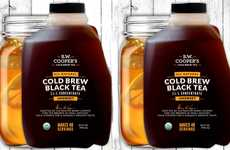 Concentrated Cold Tea Drinks - The B.W. Cooper's Organic Cold Brew Tea Concentrate is Convenient
