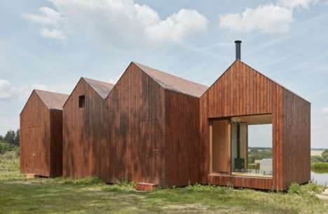 Contemporary Fishing Cabins - This Cottage Was Designed with Inspiration from Old Anglers' Shacks