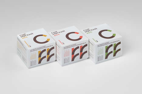 Divergent Dairy Branding - These Russian Dairy Products Were Designed to Differ From Competing Goods