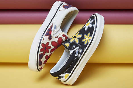 Floral Slip-On Skate Shoes