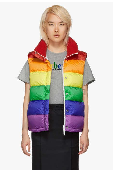 Rainbow-Clad Designer Outerwear