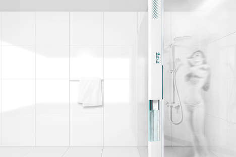 Dehumidifying Eco Showers - The Delta Shower Adapts to Different Spaces and Recycles Water Vapor