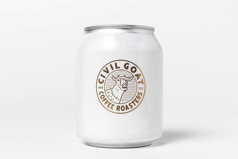 Clean Cold Brew Cans - Civil Goat Packaging Refines Its Image with Minimalism and Its Mascot