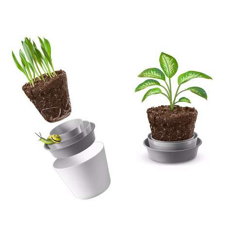 Easy Replanter Pots - The Rem'Pot Makes Repotting Your Plants a Simple and Shovel-Free Exercise