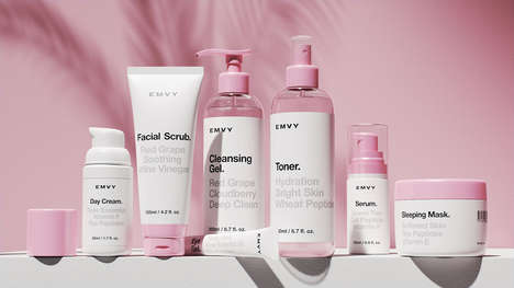 Restorative Feminine Skincare - EMVY Cosmetics Are Gentle Treatments In Cute and Clinical Packaging