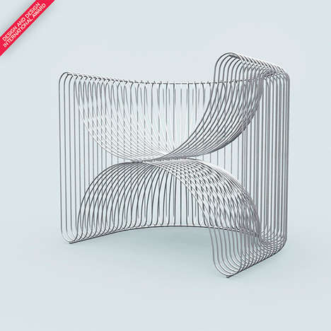 Revamped Slinky Seating - The Renaissance Chair Harkens Back to an Ancient Roman Throne