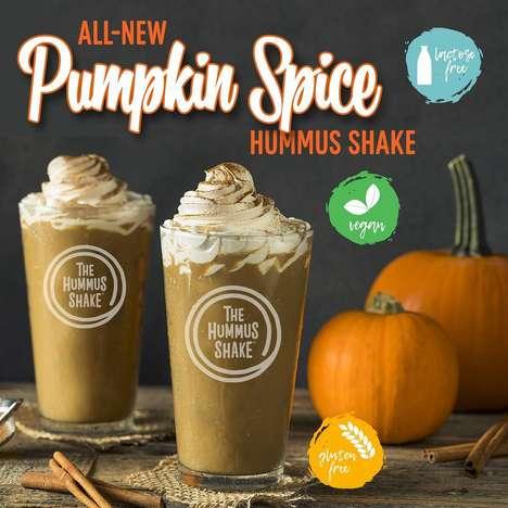 Spiced Pumpkin Hummus Shakes