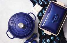 Indigo-Tinged Cookware - Le Creuset is Launching a New Indigo Collection in a Deep Blue Hue