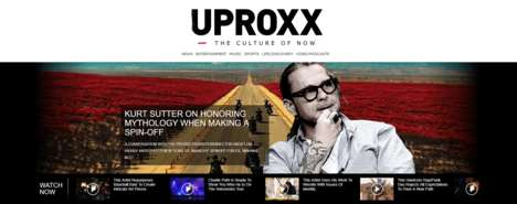 Inclusive Content Digital Platforms - The Uproxx Site Caters to the Digital Male Demographic