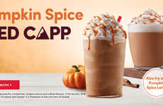 Pumpkin Spice Coffee Drinks - Tim Hortons Welcomes the Fall Season with its Pumpkin Spice Iced Capp