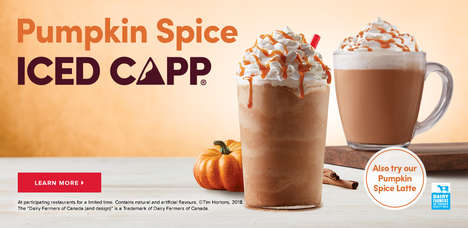 Pumpkin Spice Coffee Drinks
