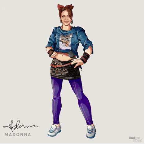 Animated Celebrity Outfit Evolution