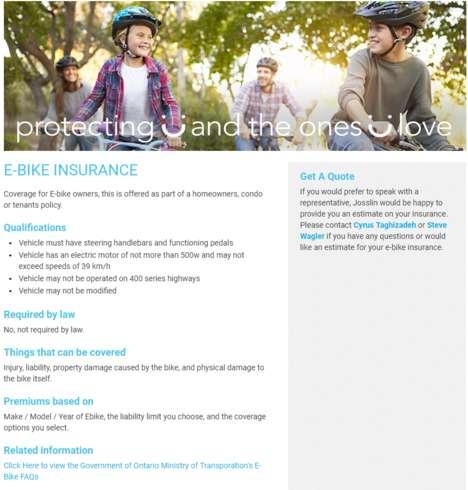 Provincial E-Bike Insurance