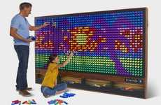 Oversized Light Peg Murals