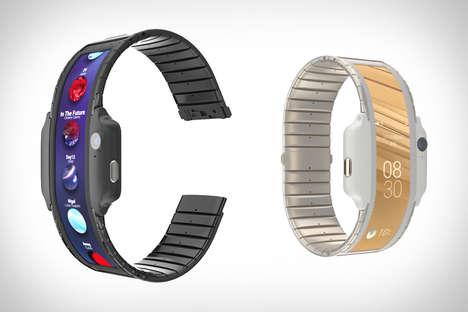 Flexible OLED Smartphone Cuffs