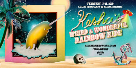 Millennial-Focused Cruise Tours - Kesha's Weird & Wonderful Rainbow Ride is a Cruise Ship Festival