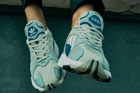 Sky-Inspired Suede Sneakers