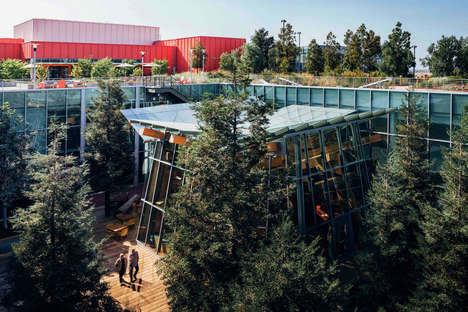Garden-Connected Office Extensions - Frank Gehry Designs Facebook's Headquarters in Silicon Valley