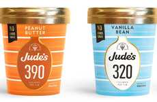 Calorie-Conscious Ice Creams - Jude's Ice Cream Has Unveiled New Treats Made without Added Sugar