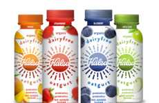 Plant-Based Yogurt Beverages - Organic Hälsa Oatgurt is Free from Dairy and Added Sugar