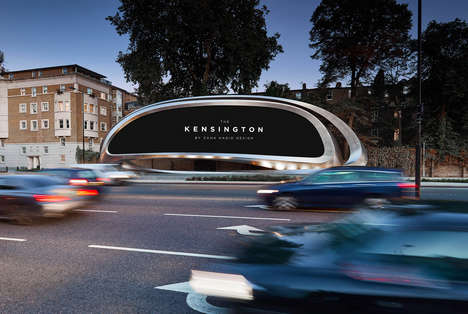 Sculptural Digital Advertising Boards - Zaha Hadid Unveils The Kensington Billboard in West London