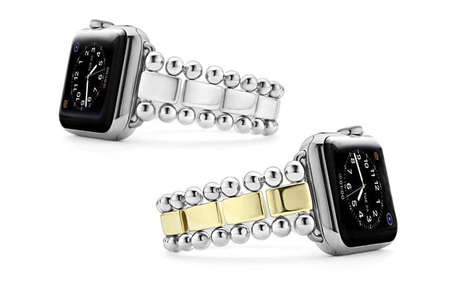 Bracelet-Like Smartwatch Bands - LAGOS' Fine Jewelry Elegantly Keeps an Apple Watch in Place