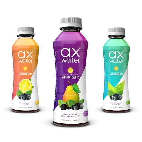 Antioxidant-Rich Berry Beverages - ax-water's Berry-Infused Water Provides Functional Benefits