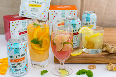 Juice-Infused Seltzer Drinks