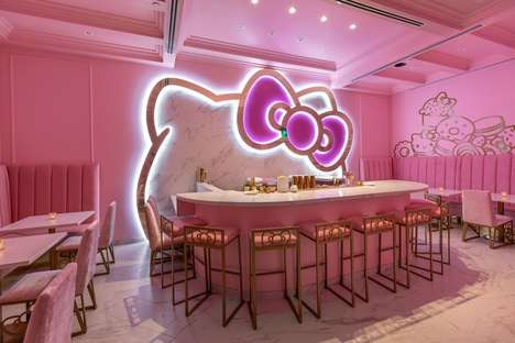 Charming Cartoon Cat Cafes