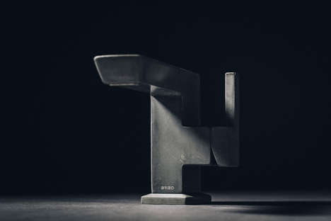 Sculptural Concrete Faucet Designs