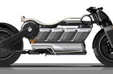 Futuristic All-Electric Motorcycles