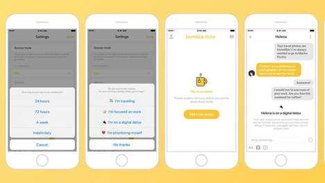 "Dating App Snooze Features - The Bumble ""Snooze"" Option Lets Users Take a Break from Online Dating"