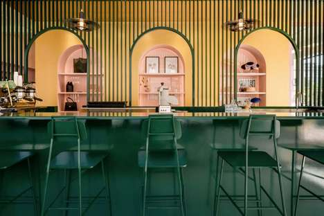 Ultra-Colorful Pastel Cafe Interiors