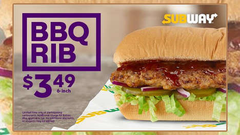 Saucy Rib Sandwiches - Subway is Selling a New BBQ Rib Sandwich at Select Locations