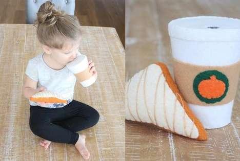 Felt Pumpkin Latte Toys