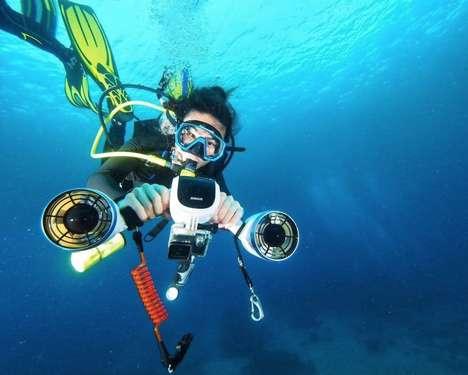 Dual-Propeller Underwater Scooters