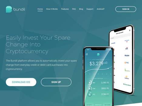 Micro-Investment Finance Apps - 'Bundil' Automatically Invests Your Space Change in Cryptocurrency