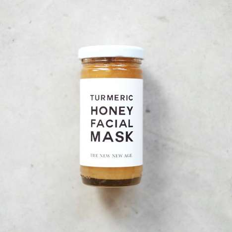 Turmeric Honey Face Masks - This Superfood Facial Mask by the New New Age Boasts Organic Turmeric