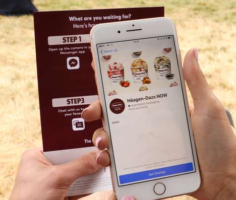Mobile Ice Cream Deliveries - The Häagen-Dazs NOW App Offers On-Demand Geo-Targeted Deliveries