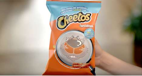 Clever Photochromic Packaging Designs - Cheetos' Packaging Strategy is Interactive and Entertaining