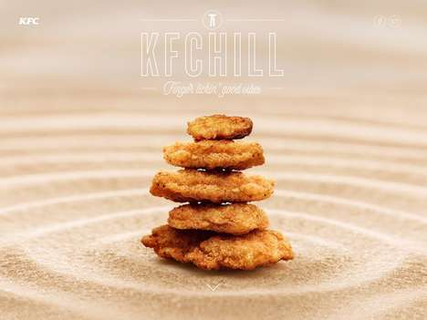 Meditative Fast Food Ads - KFC Partners with Mother London for Soothing and Tasty Imagery