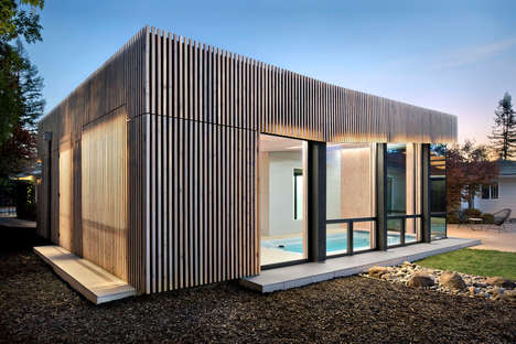 Contemporary Slated Home Designs - Framestudio Creates the Opportunity for an At-Home Spa Day