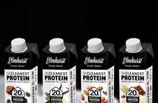 Peanut Protein Shakes - Elmhurst's Plant-Based Protein Shakes are Made with Minimal Ingredients