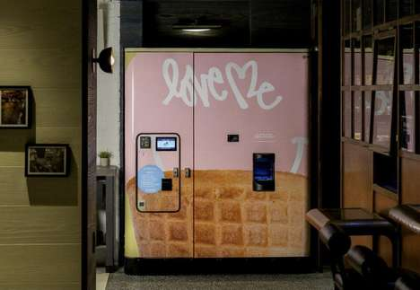 Automated Soft Serve ATMs - The  Moxy Times Square is Home to the First Soft Serve Vending Machine