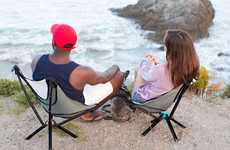Bottle-Sized Outdoor Chairs - The 'GO CHAIR' Folds Up for Ultra-Easy Portability